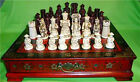 Collectibles Vintage 32 chess set with wooden Coffee table #109+4