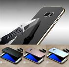 Curved Aluminum Bumper Tempered Glass Back Cover Case For Samsung Galaxy S7 Edge