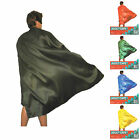 NEW! Adult Kids Plain Colour Cape Sports Day Superhero Fancy Dress Party Cape