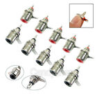 10/20/40 Pcs Metal RCA Phono Chassis Panel Female Jack Mount Connectors Socket