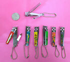 "PICK 1--2.5 "" LONG  CARTOON DESIGNED NAIL CLIPPER WITH FILE , CHAIN"