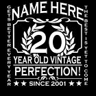20th Birthday T-Shirt Personalise with Name Age Year Ideal Birthday Gift T-Shirt