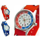 Reflex Kids Childs Football Design Watch 3D Silicone Strap Soccer Blue Or Red