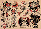 Sailor Jerry vintage poster №1 print giclee on canvas and paper 8X12&12X17