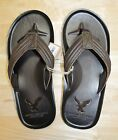 American Eagle Men Leather Flip-Flops size 8 , 10 new with tags