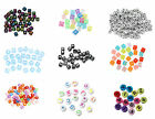 50- 500 Alphabet Mixed Cube and Round Letter Beads - Various Colours to Choose