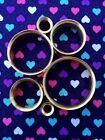 Pair of Gold Double Flare Steel Tunnels Plugs- 6mm - 32mm