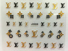 3D Nail Sticker Transfer Decal Bling Gold Silver Manicure Nail Art JH066