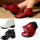New Fashion Women's Soft dance shoes real leather Sneakers sheos lace up heels