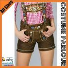 Womens Authentic Brown German Leather Lederhosen Oktoberfest Costume All Sizes