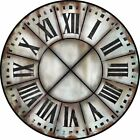 "French Tower 3 LARGE WALL CLOCK 10""- 48"" Whisper Quiet Non-Ticking WOOD HANDMADE"