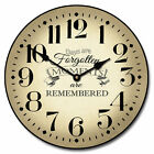 Moments LARGE WALL CLOCK 10- 48 Whisper Quiet Non-Ticking WOOD HANDMADE