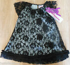 Beetlejuice girl smart dress 2-3, 4-5 y BNWT black lace designer party special