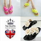Womens Beautiful Summer Pool Beach Floral Flip Flop Sandals Holiday UK Seller