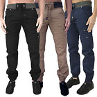 Mens Rawcraft Chinos Designer Cuffed Twill Combat Cargo Pants Trousers Jeans New