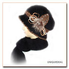 NEW FASHION WOMEN WINTER WARM KNIT SCARF HAT SET SKI BEANIE / Black Q135