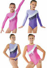 Girls Pink/ Purple Sparkle Gym Blocks Leotard. Ages: 2,3,4,5,6,7,8,9,10,11,12,13