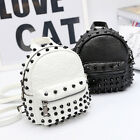 Women's Studded Faux Leather Small Mini Backpack Rucksack Cute bag Purse Casual