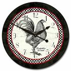 Large wall Rooster Clock 10- 48 Whisper Quiet, Non-Ticking