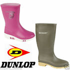 KIDS BOYS GIRLS CHILDREN WELLINGTON BOOTS DUNLOP BRANDED RAINY WINTER WELLIES