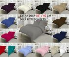 "EXTRA DEEP FITTED SHEET PERCALE TC180 PREMIUM QUALITY 16""/40CM DEEP ALL SIZES"