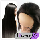 soft Machine weft cap Indian 100% Remy Human Hair Glueless 3/4 Half Wig
