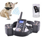 LED Pet Dog Training Collar Bark Collar Electric Trainer Rechargeable Waterproof