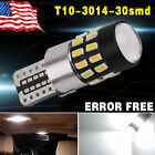 Canbus T10 30SMD Super White Projector LED Light High Power W5W 2825 194 921 158
