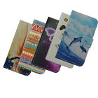 For Lenovo PU Leather case card holder phone cover Cartoon flower Wallet