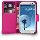 Premium Leather Flip Wallet Case Cover For Samsung Galaxy S3 + Free Screen Guard