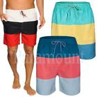 Soulstar Block Striped Swim Board Shorts  Mens Size