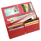 FancyStyle Womens RFID Blocking Leather Wallet Clutch Long Bifold Red Yellow