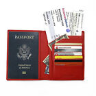 FancyStyle RFID Blocking Passport Holder Wallet Genuine Leather Secure 4 Colors