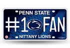 Penn State Nittany Lions #1 Fan Metal License Plate Tag