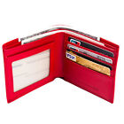 FancyStyle Women's Genuine Leather Wallet Money Clip RFID Shielding Red Yellow