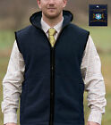 Mens British Country Outdoor Fleece Gilet Waistcoat Sleeveless Jacket Vest Top
