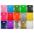 100 COLOR PLASTIC CARRIER BAGS GIFT FASHION SHOP STRONG PATCH HANDLE 15