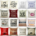 Love Mr. & Mrs. Couple Cotton Linen Pillow Case Sofa Cushion Cover Home Decor