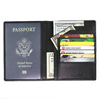 FancyStyle RFID Blocking Safe Ticket ID Leather Passport Holder Travel Wallet