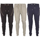 Mens Fleece Drop Crotch Skinny Slim Fit Stretch Joggers Bottoms Trouser Pants