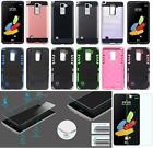 NP ARMOR Case and GLASS Screen Guard For LG G Stylo 2 / G Stylus 2 / LS775 K540
