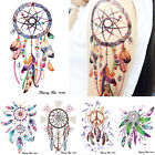 Girl Body Art Dreamcatcher Feather Butterfly Bird Decal Temporary Tattoo Sticker