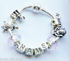 childrens Any name charm bracelet elephant dog charm turtal monkey charms kids