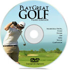 Learn How to Play Golf Volume 1 Stance, Posture, Grip, Swing, Club Positions DVD