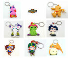 Digimon Keychain,Big,Rubber,Two-Sided,8 characters,Excelent Quality UK Stock