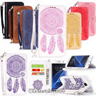 Retro Tribe Magnetic Flip Stand Cover Card Wallet Leather Case Pouch W/Strap