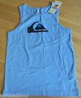 Quiksilver boy t-shirt vest top blue 9-10 y BNWT cotton