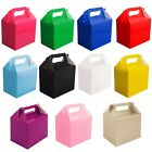 MEGA PACK 12 x PAPER CARD LUNCH BOXES - PARTY PRESENT GIFT BOX PARTIES LUNCHBOX