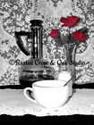 Black and White Coffee w Red Rose Still life Signed Orignal Photo Wall Art A229