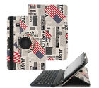 2 in 1 Rotating Removable Bluetooth Keyboard Case Cover  Leather For Kingpad V10